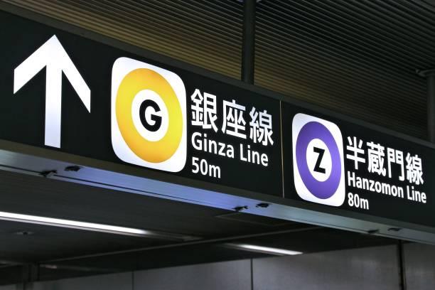 銀座線と半蔵門線の駅の案内版