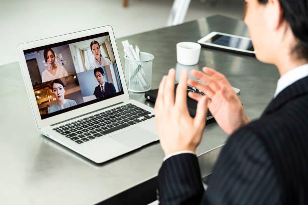 ビデオ会議の風景